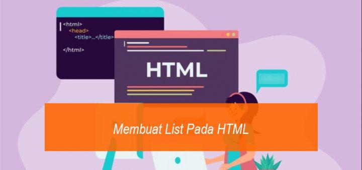 Membuat List Pada HMTL